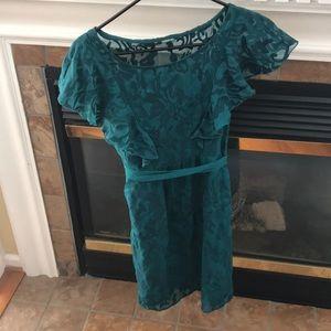 Greenish blue dress from Anthropologie